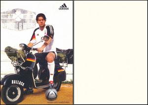 Ballack, 2004, Adidas 'Road to Lisboa', Postkarte