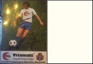 Beckenbauer, 1974, Vitamalz 'Privatbrauere Thier & Co., Dortmund', Dank an SF Norbert