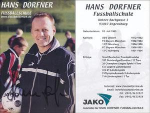 Dorfner, 2000er, 'Hans-Dorfner Fußballschule', Motiv 2
