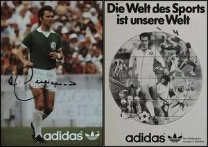 Beckenbauer, 1978, Adidas 'Cosmos NY', 'Die Welt des Sports ist unsere Welt', Bildquelle google