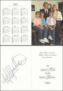 Pfaff, 1987, französische Privatkarte 'Kalender', Klappkarte