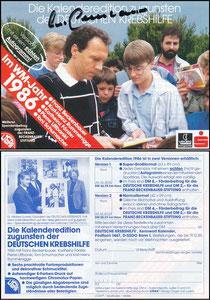 Beckenbauer, 1986, Deutsche Krebshilfe