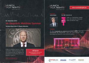 Sammer, 2013, 'Munich talk Nights', A5