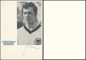 Beckenbauer, 1970, Stuttgarter Nachrichten