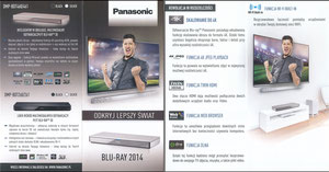 Lewandowski, 2014, Panasonic Polen Flyer 'Blue Ray 2014'