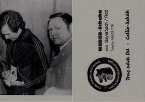 Beckenbauer, 1976, Weber-Schuhe, , Dank an SF Norbert