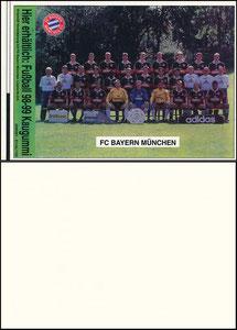 Mannschaftskarte 1998, 'Kaugummi Fußball 98-99', Aufkleber, PK-Größe