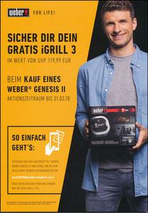 Müller, Thomas, 2018, Werber-Grill, Aufsteller 'iGrill 3'