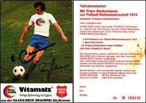Beckenbauer, 1974, Vitamalz 'Haake-Beck Brauerei AG, Bremen'