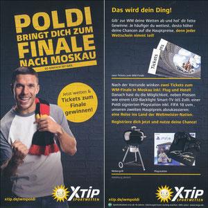 Podolski, 2018, XTip 'Poldi bringt Dich zum Finale nach Moskau'