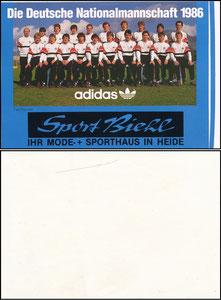 DFB, 1986, 'Sport Biehl', Aufkleber