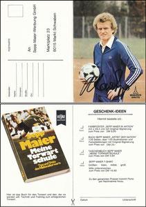 Maier, 1979, 'Meine Torwartschule', Klappkarte