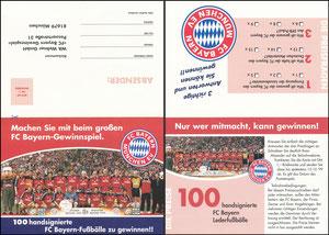 Mannschaftskarte 1999, 'Bayern München' Gewinnspiel, Klappkarte