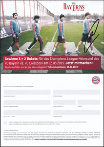 FanShop, 2019, Gewinnspiel 'CL Bayern-Liverpool', sign. Neuer 28.10.2019