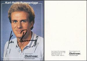 Rummenigge, 1981, Gothaer 'Standard Adresse', mit Druck-AG