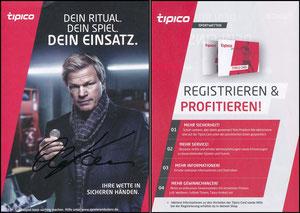 Kahn, 2017, Tipico, dünne Karte, signiert Kahn im Febr. 2019