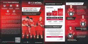Bayern München, 2016, FCB Mobil, Klappflyer, neue Auflage 08'2016