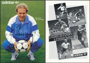 Rummenigge, 1985, Adidas, italienische Karte