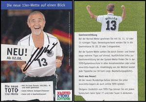 Müller, Gerd, 2004 Lotto 13er Wette