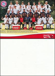 Mannschaftskarte 2001, 'Coca-Cola'
