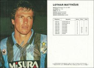 Matthäus, 1988-89, Inter Mailand, Großkarte 14,5 x 21 cm