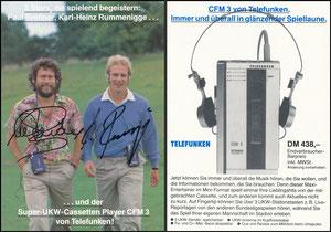 Gemeinschaftskarte, 1982, Breitner-Rummenigge, Telefunken DFM 3