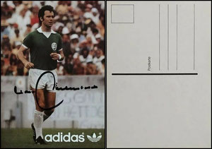 Beckenbauer, 1978, Adidas 'Cosmos NY', Postkarte 'rückseitig ohn, Bildquelle googlee Absender'