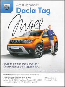 Scholl, 2020, Dacia 'Dacia Tag, Autohaus Geyer, A4, Dank an SF Robert