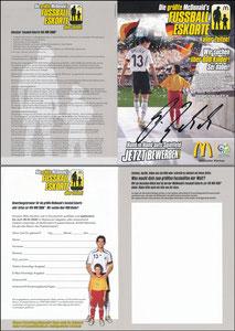 Ballack, 2006, McDonalds, 'Fußball-Eskorte', Klappkarte A5