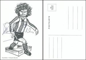 Breitner, 1980er Jahre, Karikatur-Karte
