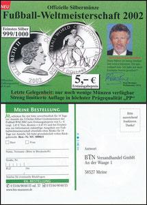 Breitner, 2002, BTN-Münz-Versandhandel