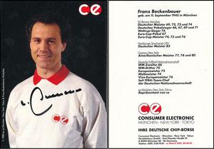 Beckenbauer, 1985, CE Consumer Electronics