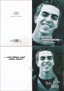 Lahm, 2008, Geburtstagskarte 'Promi Card'