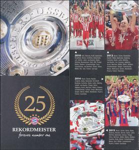 Bayern München, 2015, Faltflyer 'Meisterschaft'
