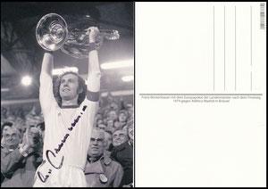 Postkarte, Fanshop, 2000er,  Beckenbauer, Landesmeisterpokal 1974