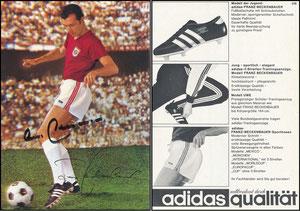 Beckenbauer, 1968, Adidas 'Weltberühmt durch Qualität', Motiv 2
