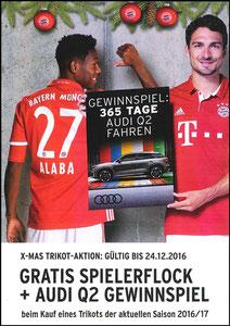 FanShop, 2016, Gewinnspiel 'Audi Q2', A4, Dank an SF Robert