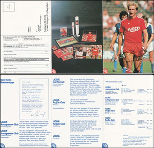 Rummenigge, 1981, Ligra, 3-fach-Klappkarte, ohne Struzzi, MIT Druck-AG