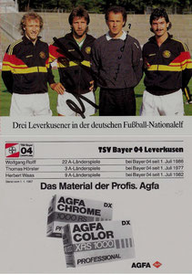 Beckenbauer, 1987, Leverkusen-DFB, Agfa Color, Dank an SF Norbert