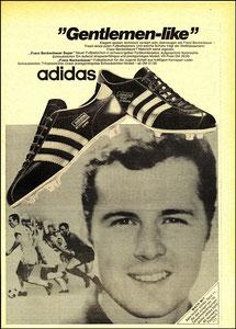 Beckenbauer, 1971, Adidas, Zeitungsanzeige