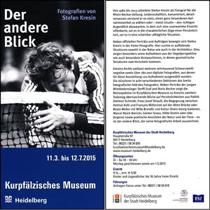 Maier, 2015, Fotoausstellung Kurpfälzisches Museum Heidelberg, Flyer