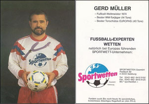 Müller, Gerd, 1984, Sportwetten, Dank an SF Norbert