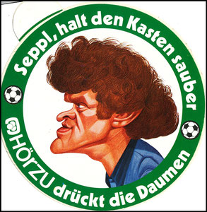 Maier, 1974, Hörzu, WM 1974, Aufkleber