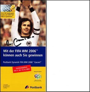 Beckenbauer, 2006, Postbank, Flyer
