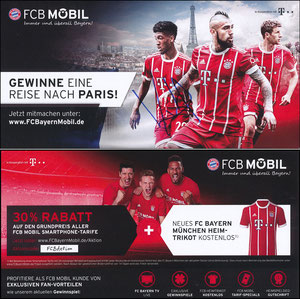 FCB Mobil, 2017, Fan-Reise 'Paris', 08'2017, sign. Coman am 28.10.2019