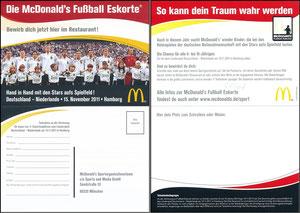 DFB, 2011, McDonalds 'WM-Eskorte', Klappkarte