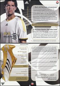 Ballack, 2006, Adidas +10, Elite-Champions, Sport2000