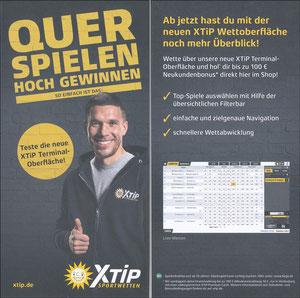 Podolski, 2018, XTip 'Quer spielen - hoch gewinnen'