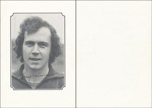 Beckenbauer, 1973, Spielerkarte