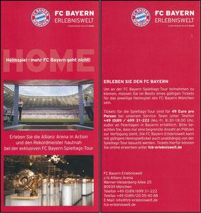 Bayern Erlebniswelt, 2016, Flyer 'Heimspiel'